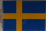 Sweden Country Flag Rectangular Decal.